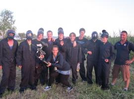 Stag group after paintball game