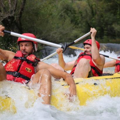 Stag group on rafting