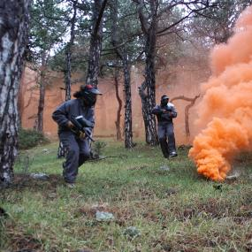 Paintball war near Split